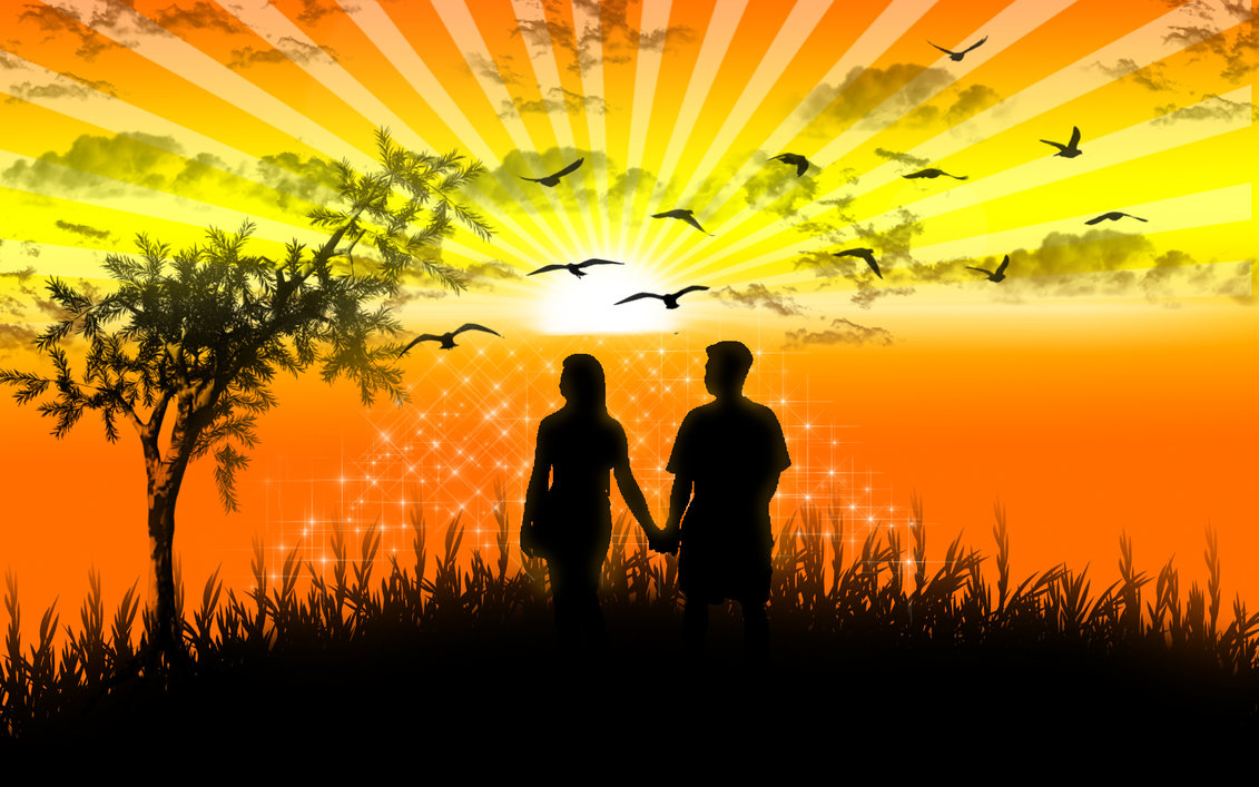 romantic_sunset_by_mybabyrocksmyworld-d3aqfjv